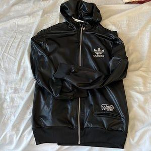 Adidas Chile 62' Mens Tracksuit Full Zip Jacket Size M Black